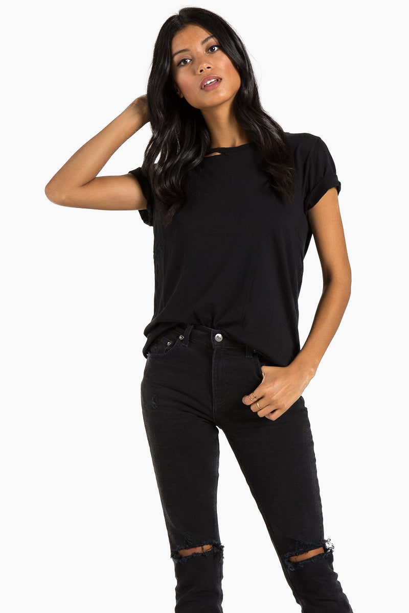 Harlow Bff Short Sleeve Tee - Black