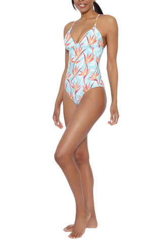 HELEN JON Lattice Back One Piece One Piece | Fire Island| Helen Jon Lattice Back One Piece