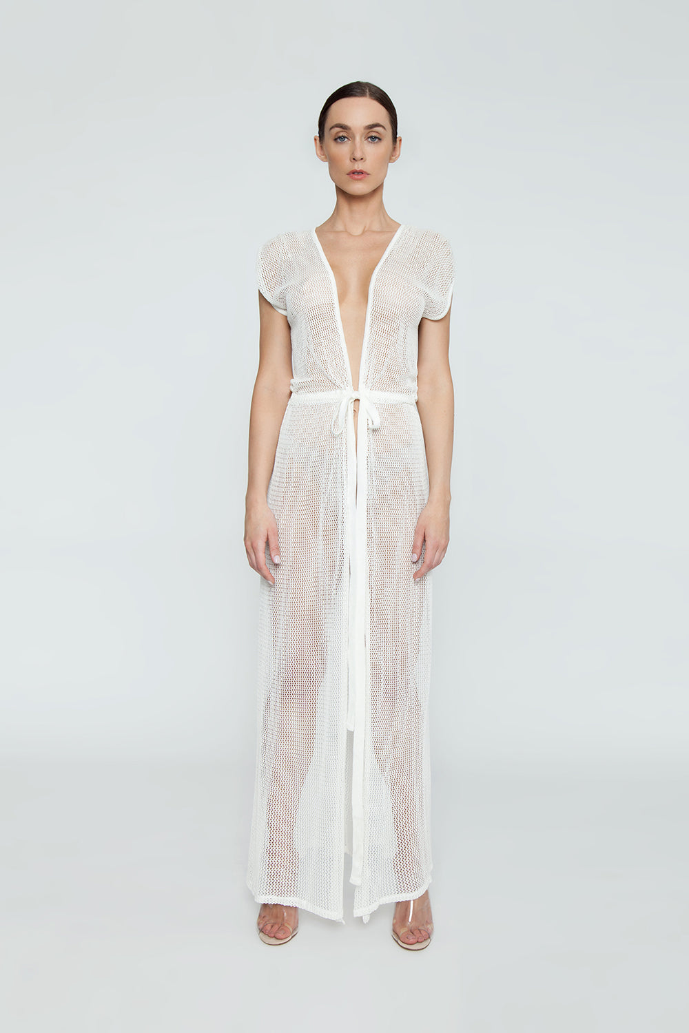 Mila Maxi Vest Cover Up - Off White