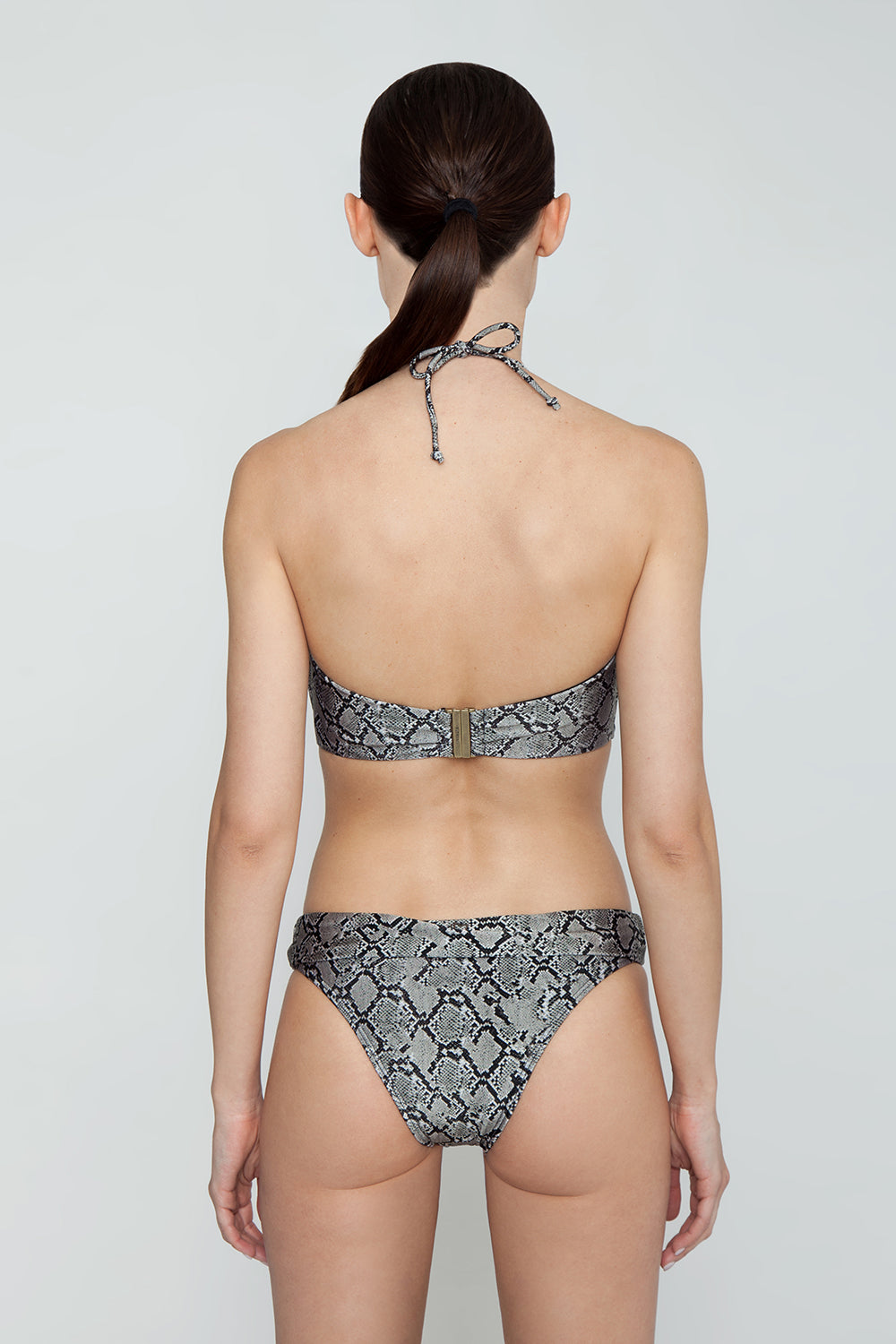 Carla Cheeky Bikini Bottom - Serpent Snakeskin Print