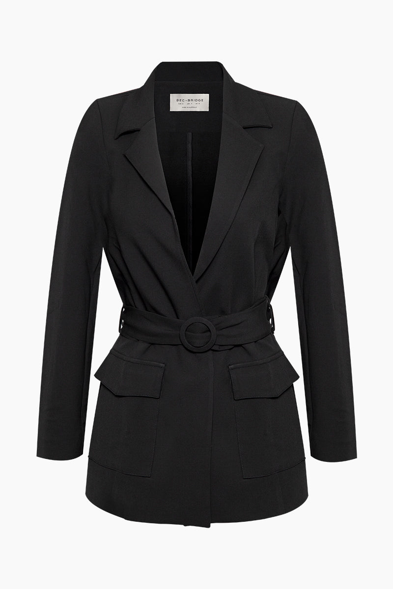 Chico Belted Jacket - Black