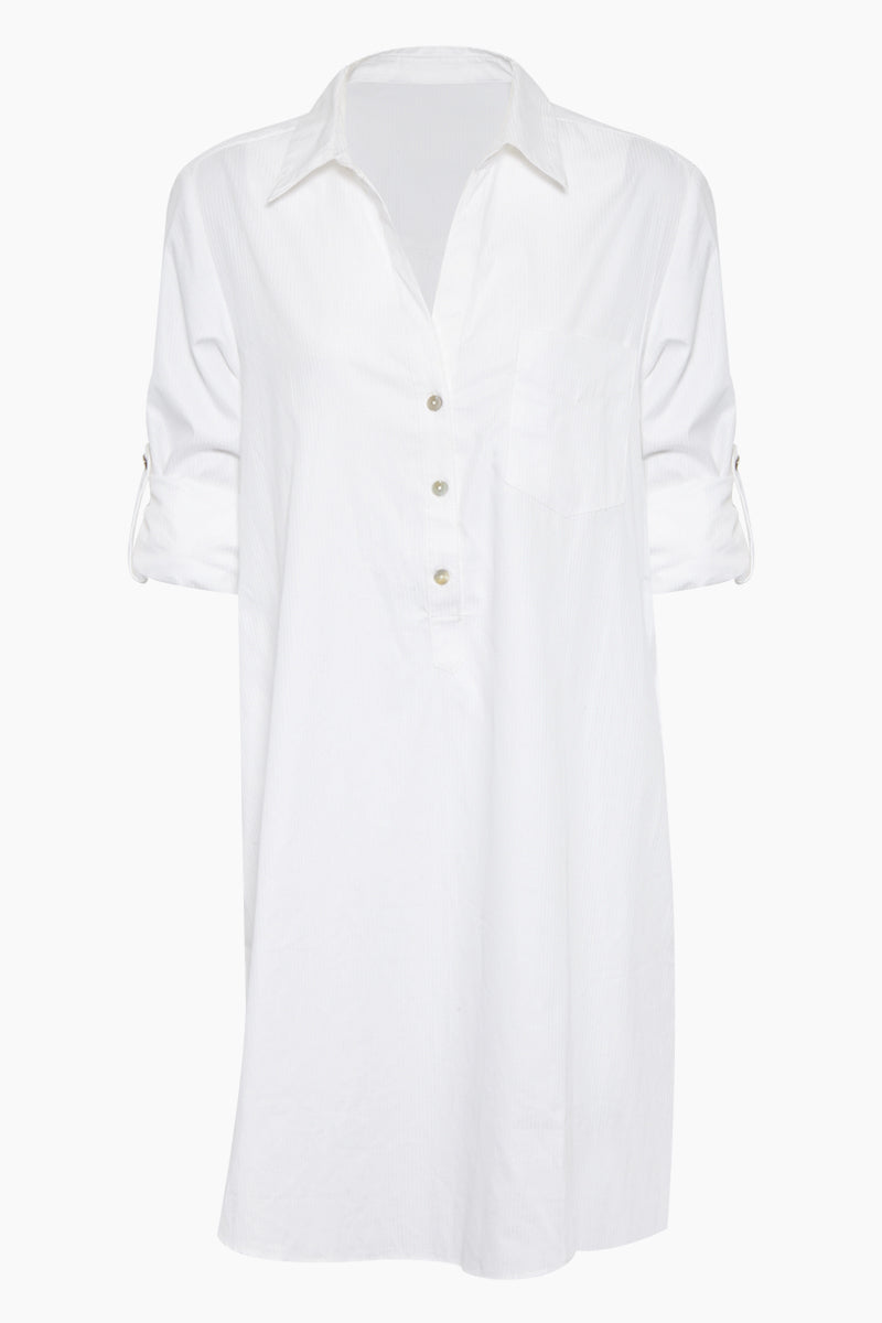 Malta Shirt Dress - White