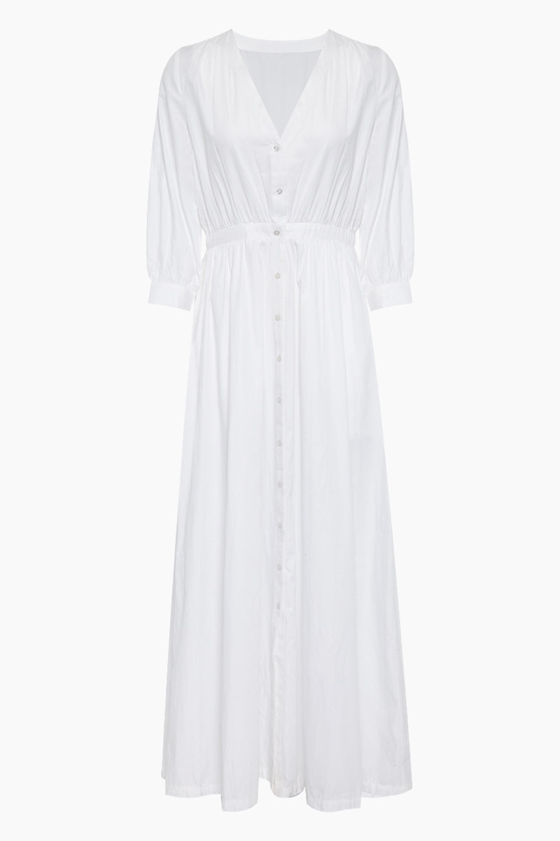 St Thomas Button Up Maxi Dress - White