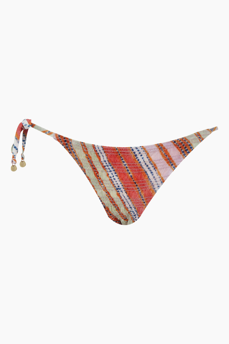 Antheia Argentina Single Tie Side Bikini Bottom - Multi-color Stripe Print