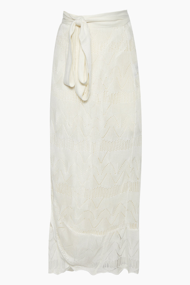 Creta High Waist Maxi Skirt - Off White