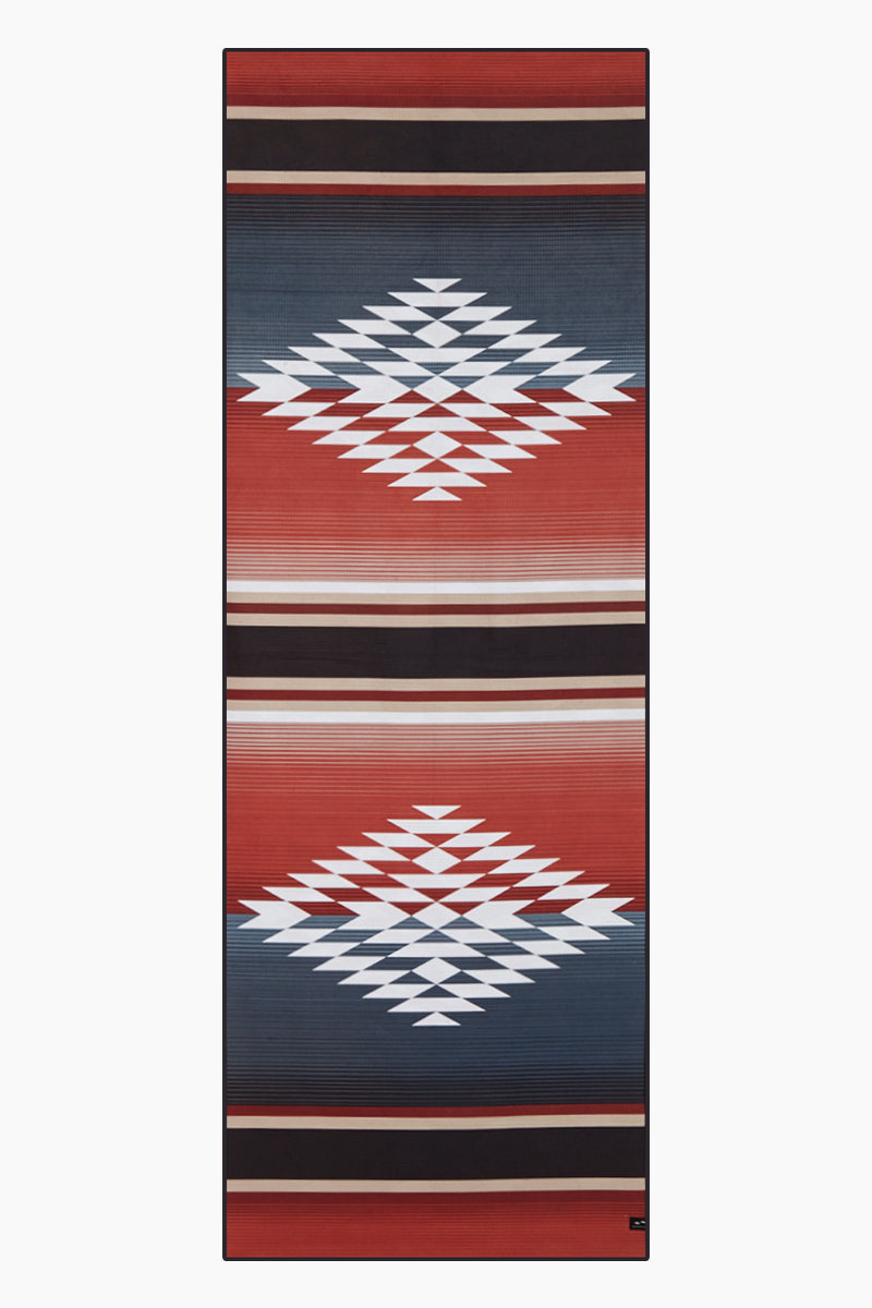 Red Rock Yoga Towel - Red Rock Aztec Print