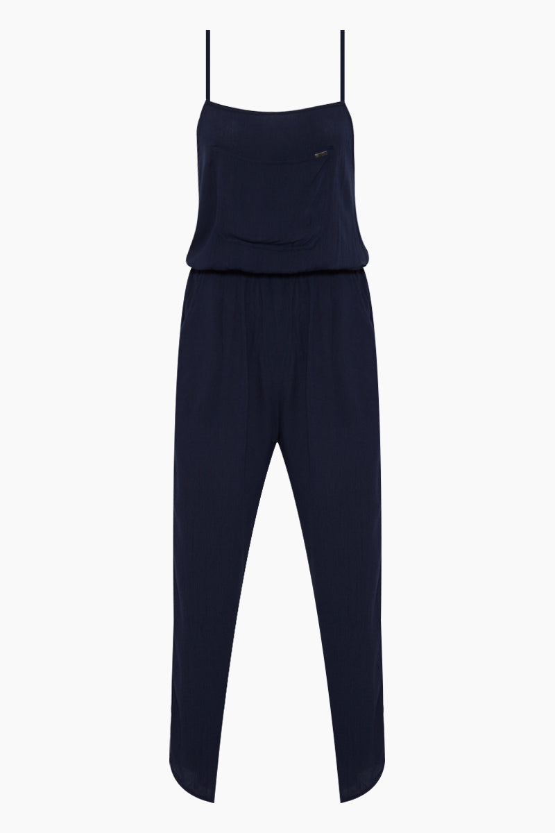 Tracter Criss Cross Back Jumpsuit - Federal Blue