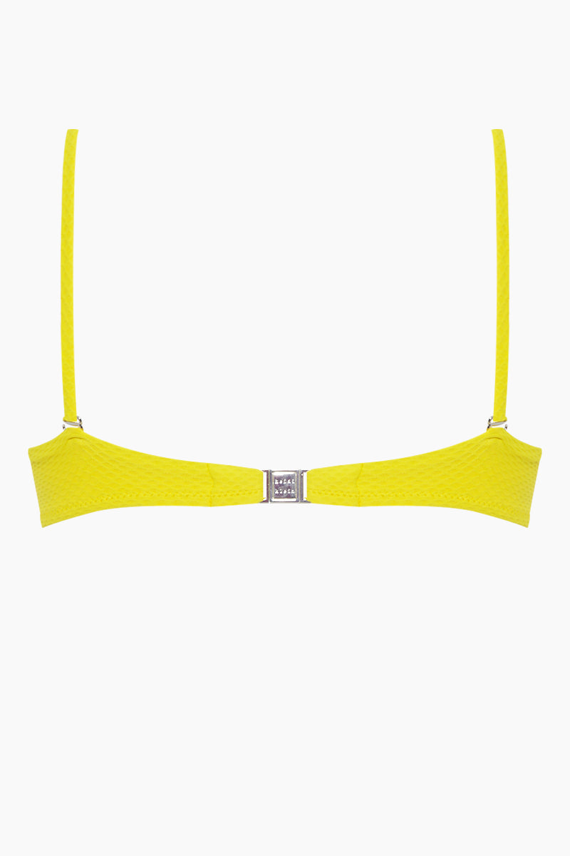91790e7cd5 ... HEIDI KLEIN Ibiza Pom Pom Balcony Bow Bikini Top - Yellow - undefined  undefined