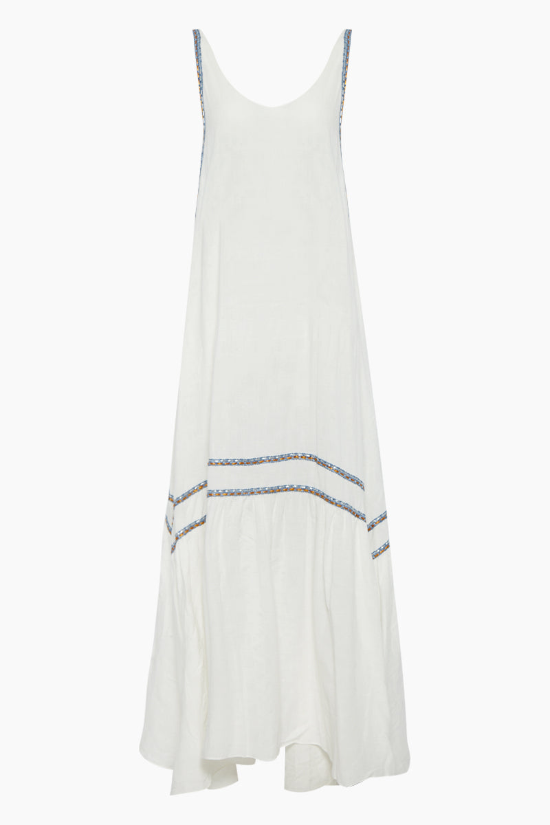 Bellevue Long Dress - La Latina White