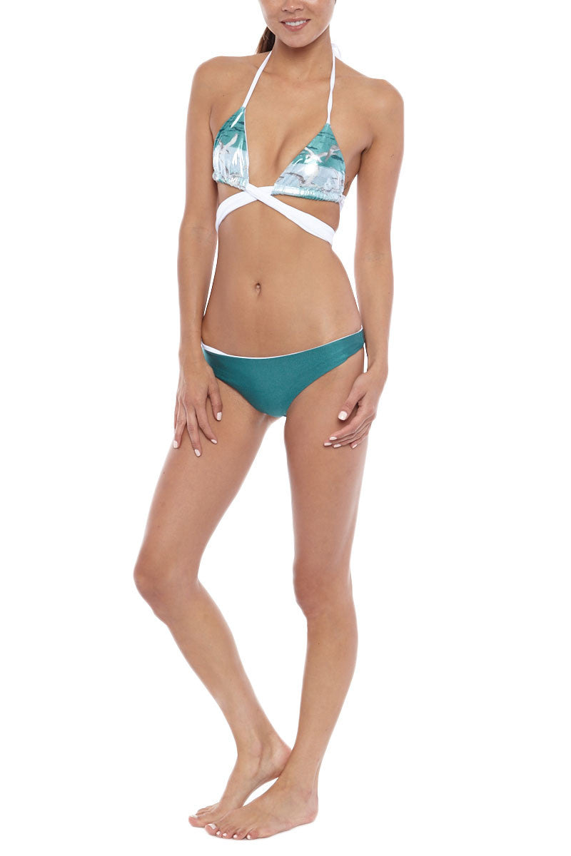 IPANEMA Reversible Thick Band Triangle Top Bikini Top | Reversible Thick Band Triangle Top