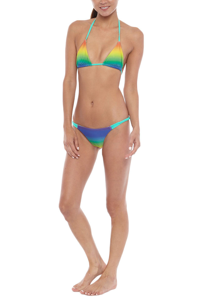 IPANEMA Reversible Triangle Top Bikini Top | Rainbow/Green| IPANEMA Reversible Triangle Bikini Top