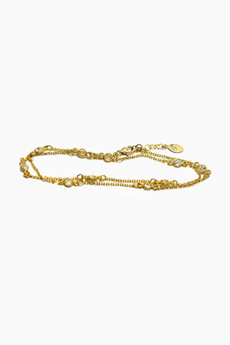 Indio Wrap Anklet/ Necklace - Gold