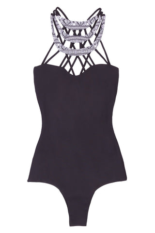 ISSA DE' MAR Kenya One Piece One Piece | Black & Shark| Issa De' Mar Kenya One Piece