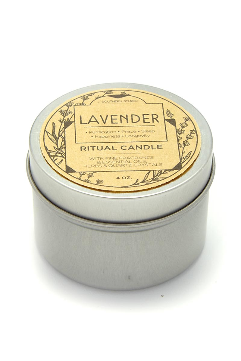 Tin Lavender Ritual Candles