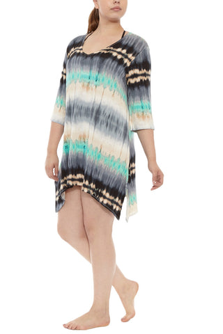 J. VALDI Gypsea Tunic Cover Up | Teal/Black|  J Valdi Gypsea Tunic