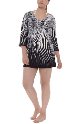 J. VALDI Sea Serpent Tunic Cover Up | Black Serpent| J Valdi Sea Serpent Tunic