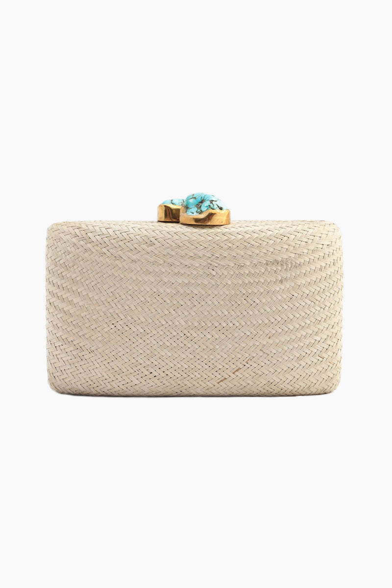 Jen Clutch With Turquoise Stone - Toast