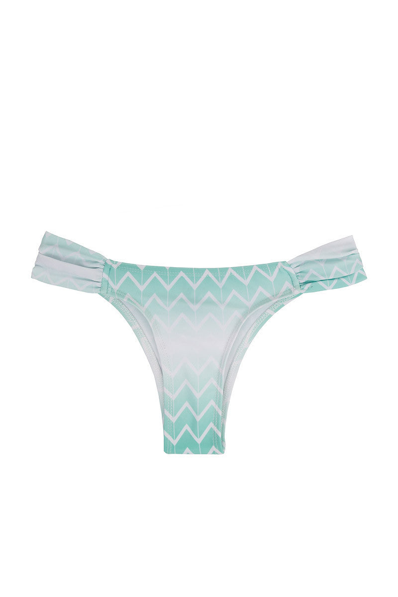 Jetty Zig Zag Ruched Bikini Bottom - Currents