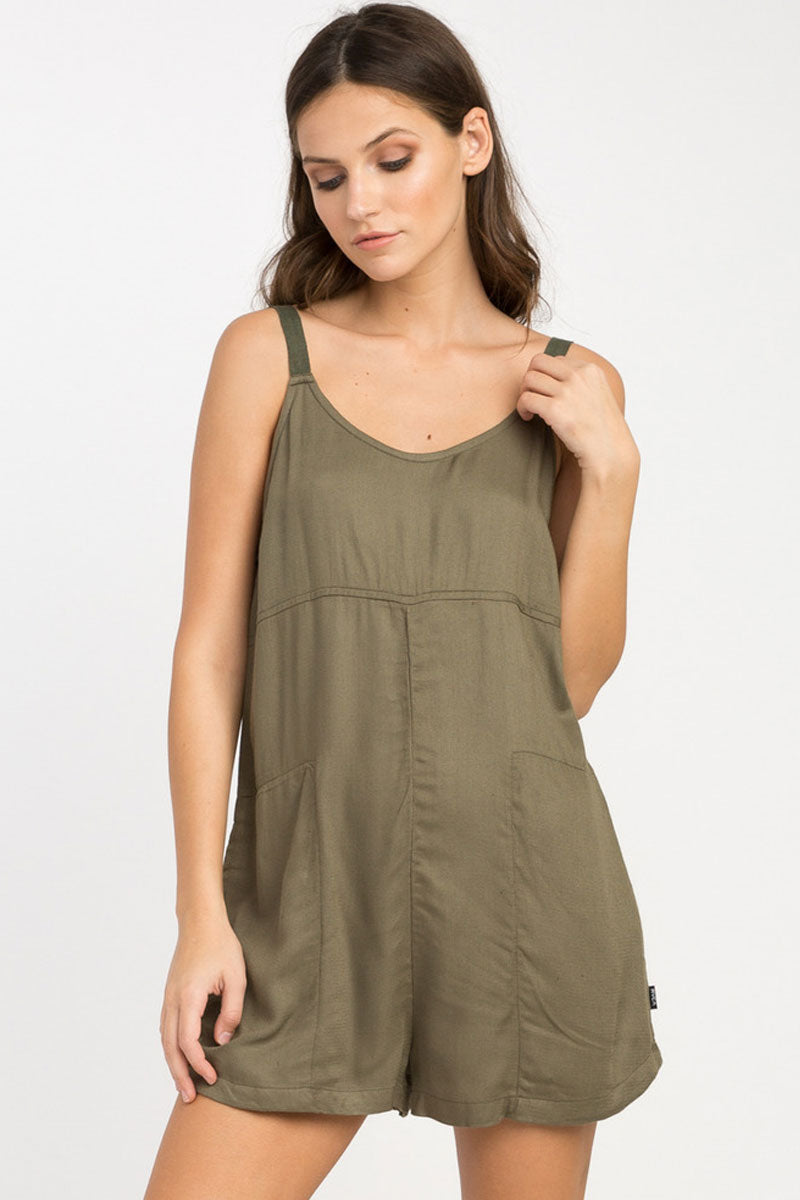 Jurys Out Romper - Burnt Olive