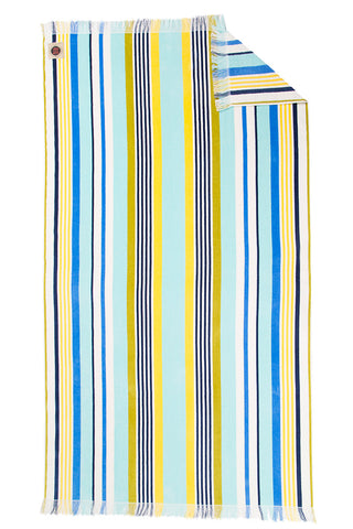 RUBY MINT Kensington Towel Accessories | Blue/Yellow Stripe