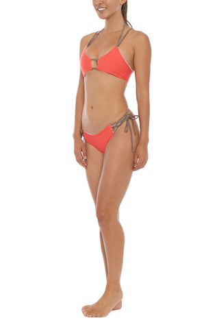KOA Endless Summer Bottom Bikini Bottom | Sunkissed Coral/ White| KOA Endless Summer Bikini Bottom