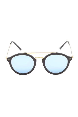 KAPTEN AND SON Fitzroy Sunglasses Accessories | Black/Blue| Kapten Son Fitzroy