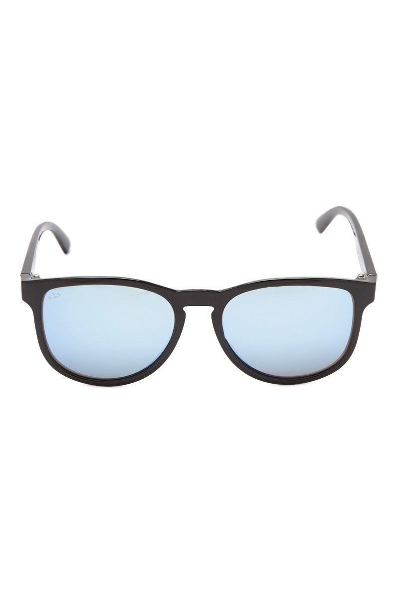Soho Square Sunglasses - Black/Blue