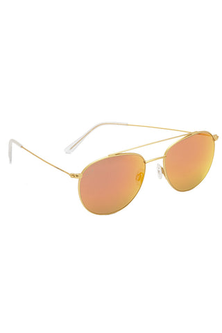 KAPTEN AND SON Venice Sunglasses Accessories | Gold/Orange| Kapten and Son Venice Sunglasses