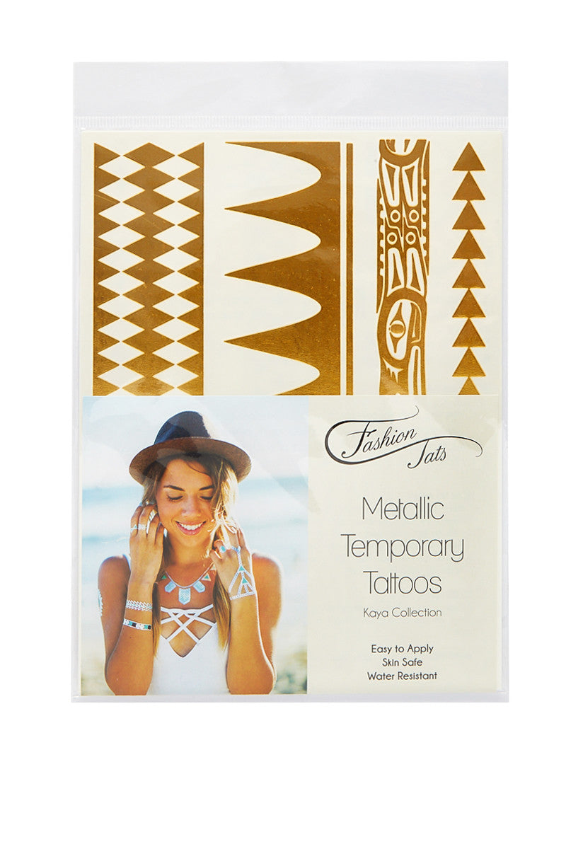 FASHION TATS Kaya Pack Accessories | Gold| Fashion Tats Kaya Pack