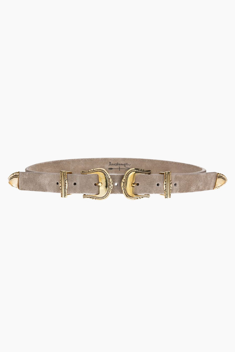 Keller Suede Leather Belt - Taupe