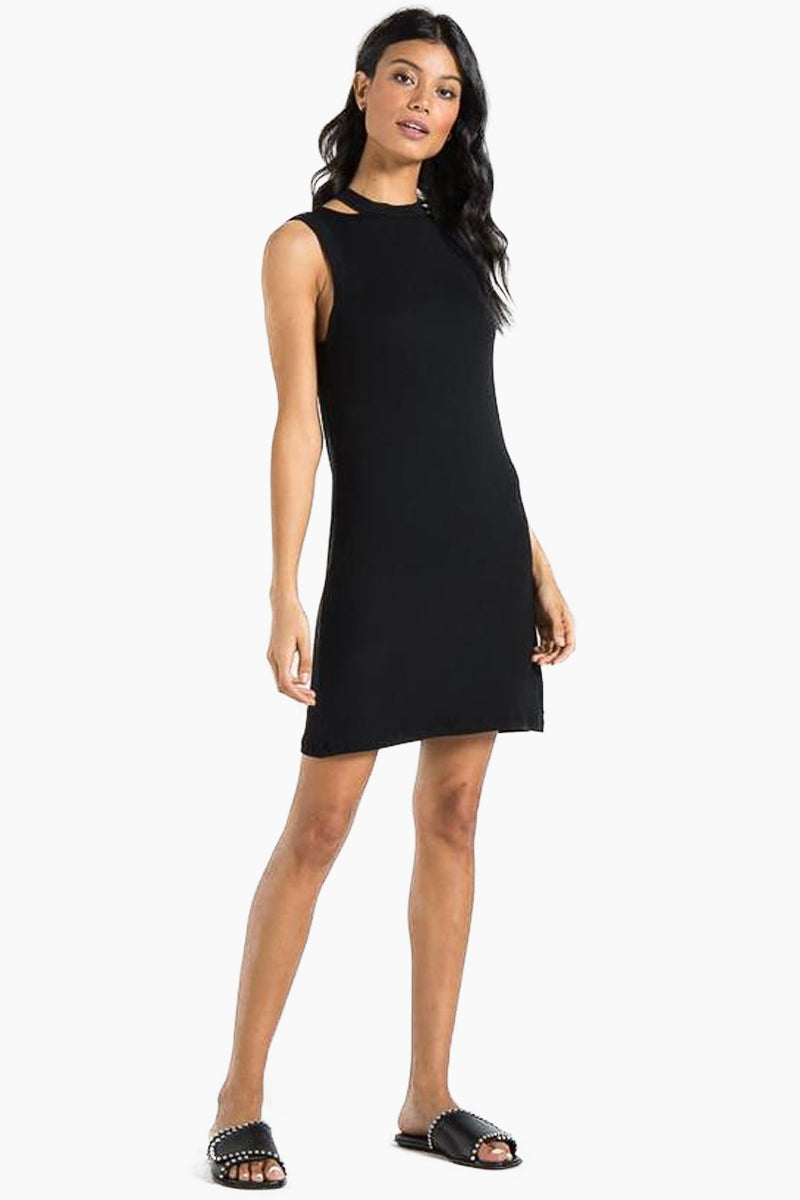 Kennedy Tank Mini Dress - Black Cat