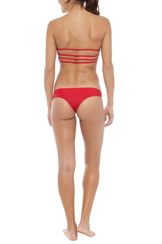 KHONGBOON Prato Reversible Bottom Bikini Bottom | Blue and White/Red| Khongboon Brunei Reversible Top
