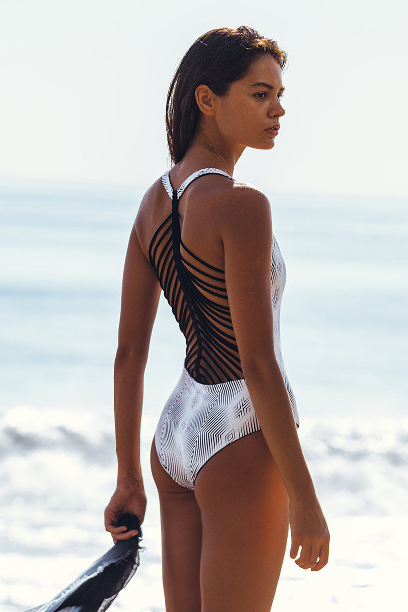 KHONGBOON Mare Reversible One Piece One Piece | Black/White| Khongboon Mare One Piece