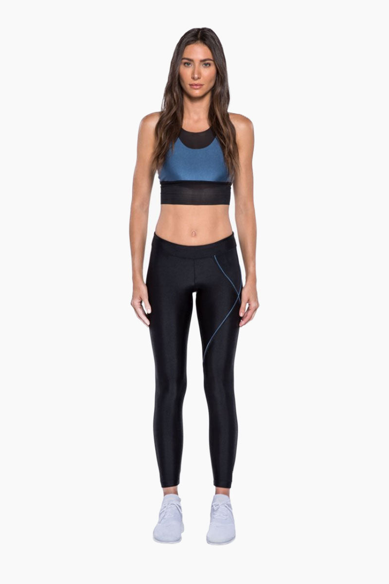 Knight Mid Rise Leggings - Catalina Black