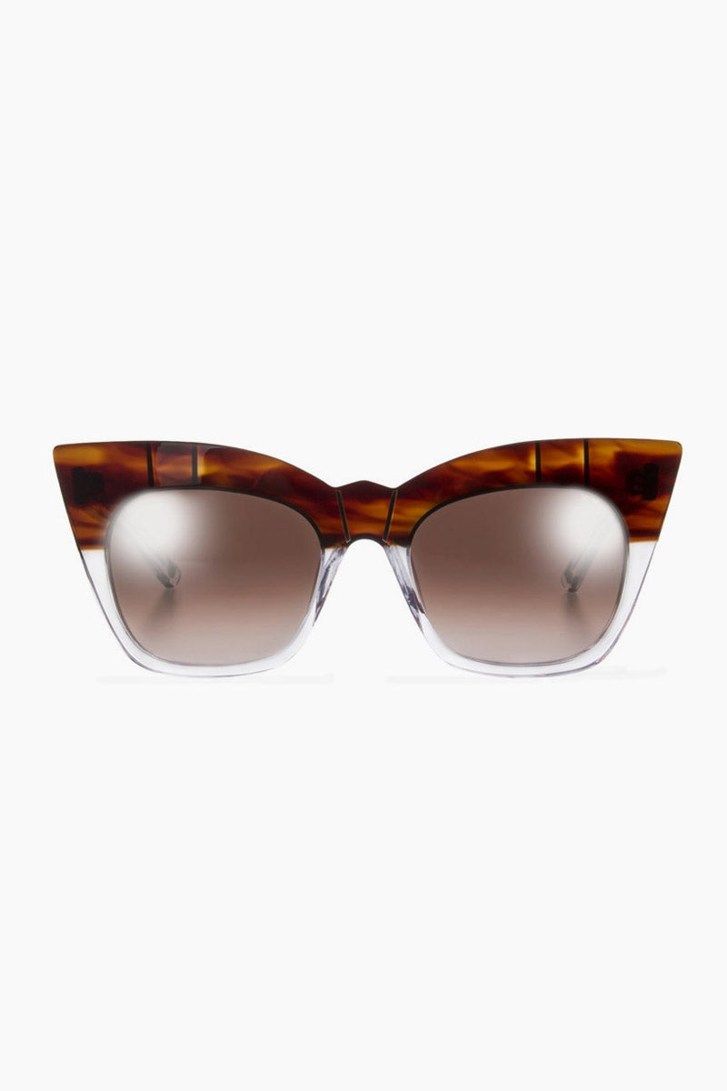 Kohl & Kaftans Sunglasses - Havana/Clear/Brown Lenses