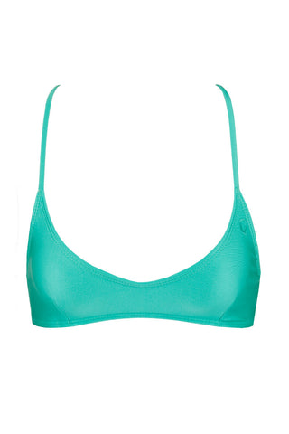 KOVEY Solid Swell Top Bikini Top | Sea Green|