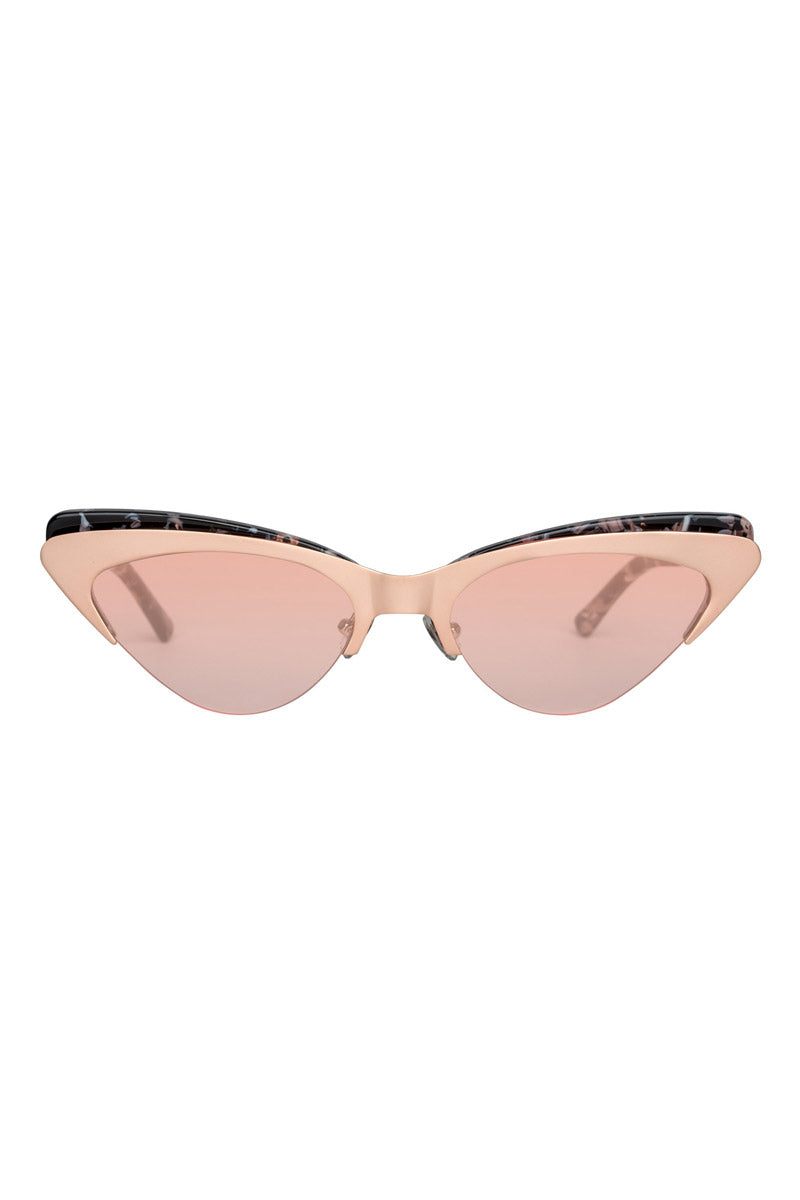 The Layer Cake Sunglasses - Creme Brulee