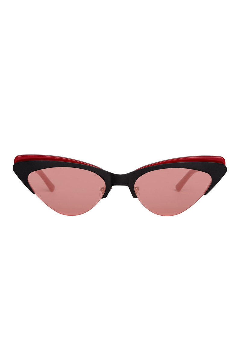 The Layer Cake Sunglasses - Red Velvet