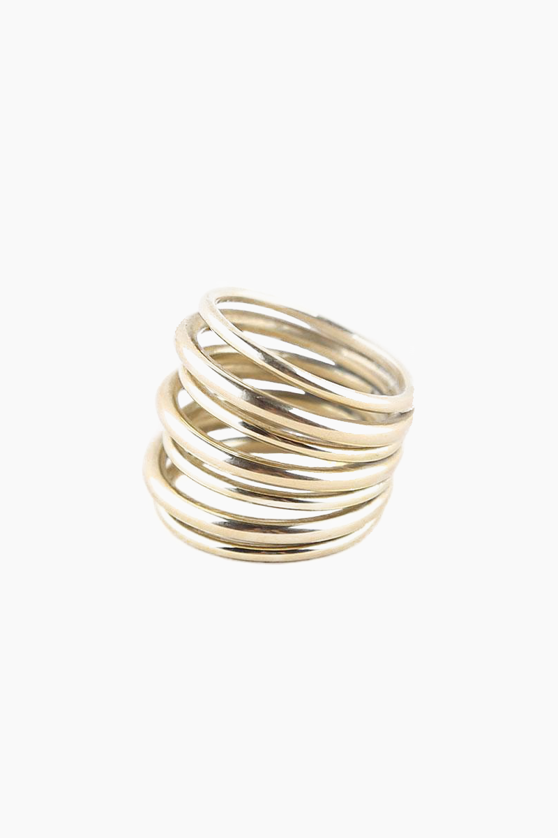 Layered Strand Ring - Brass
