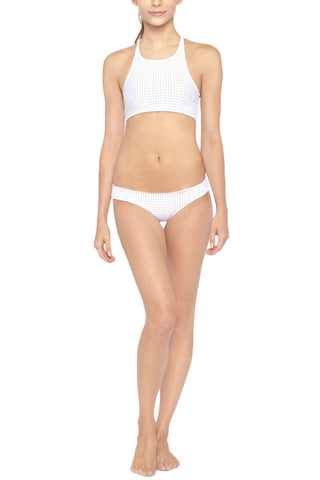 LES COQUINES Cara High Neck Top Bikini Top | Reef Blanc| Les Coquines Cara High Neck Bikini Top