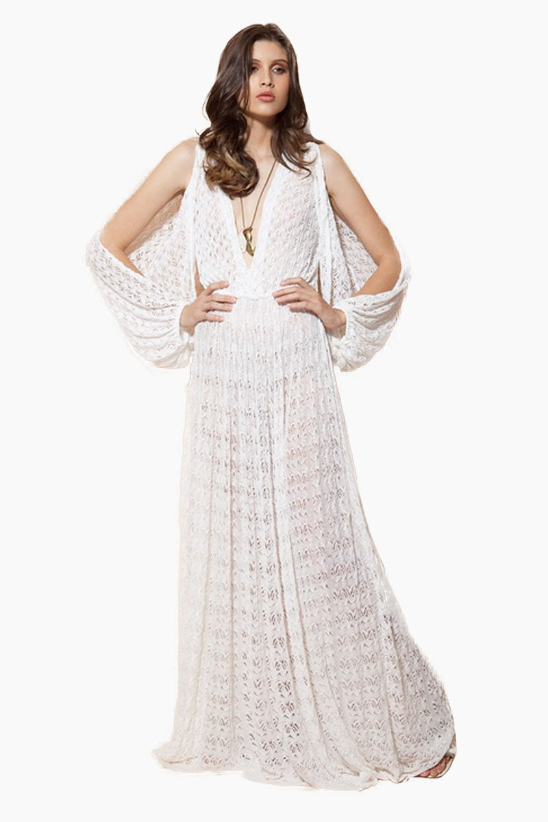 5e693be4ee84 ... MEERK Los Cabos Open Long Sleeve Maxi Dress - White - undefined  undefined