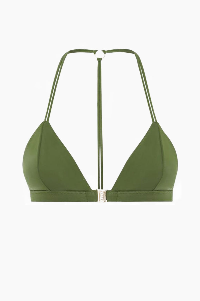 Louis The II Belted Bikini Top - Olive