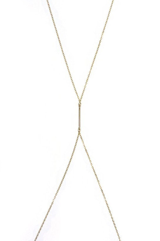 LOVE ME KNOTS Golden Body Chain Jewelry | Gold|