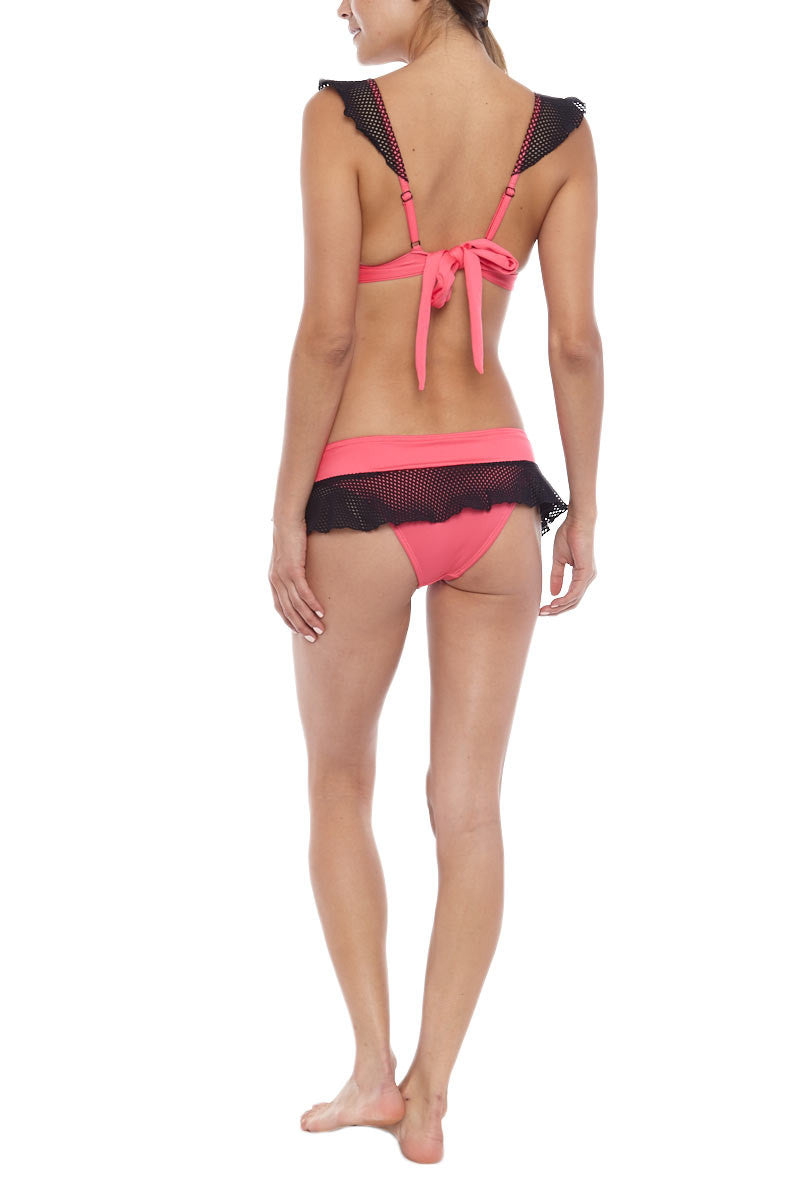 LOVE AND LAUGHTER Hard Candy Top Bikini Top | Pink Black|Love and Laughter Hard Candy Top