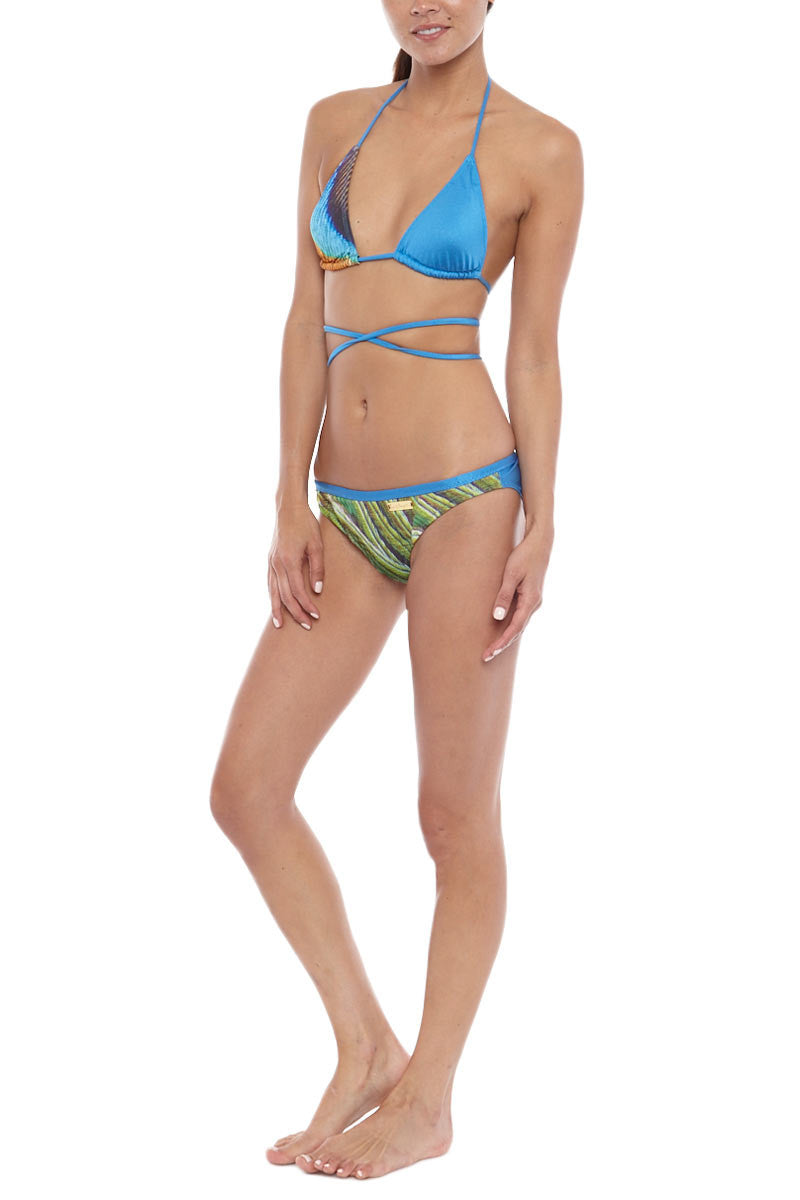 LOVE AND LAUGHTER happiness bottom Bikini Bottoms | Peacock Feather| Love And Laughter Wildest Dreams Bikini Bottom