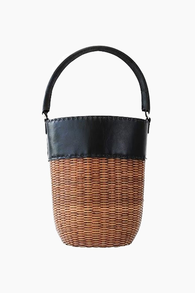 Lucie Bucket Tote - Black/Natural