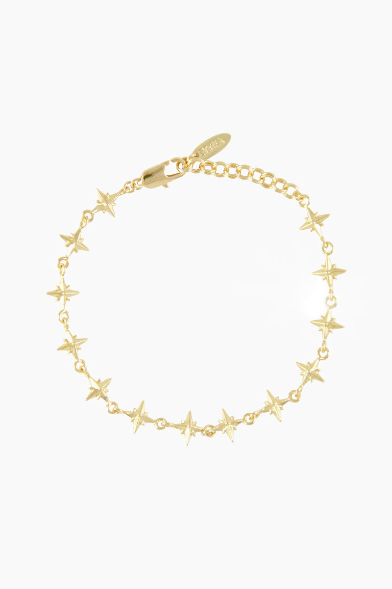 "Lucky Charm Northern Star Bracelet ""The Constant"" - Gold"