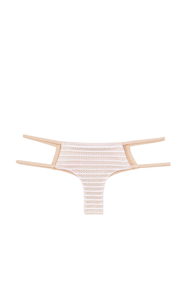 LULI FAMA Moon Over Miami Bottom Bikini Bottom | White|