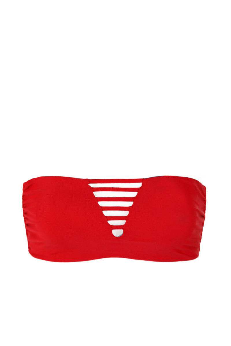 MARY GRACE Luna Top Bikini Top | Reversible Lovechild / Scarlet|