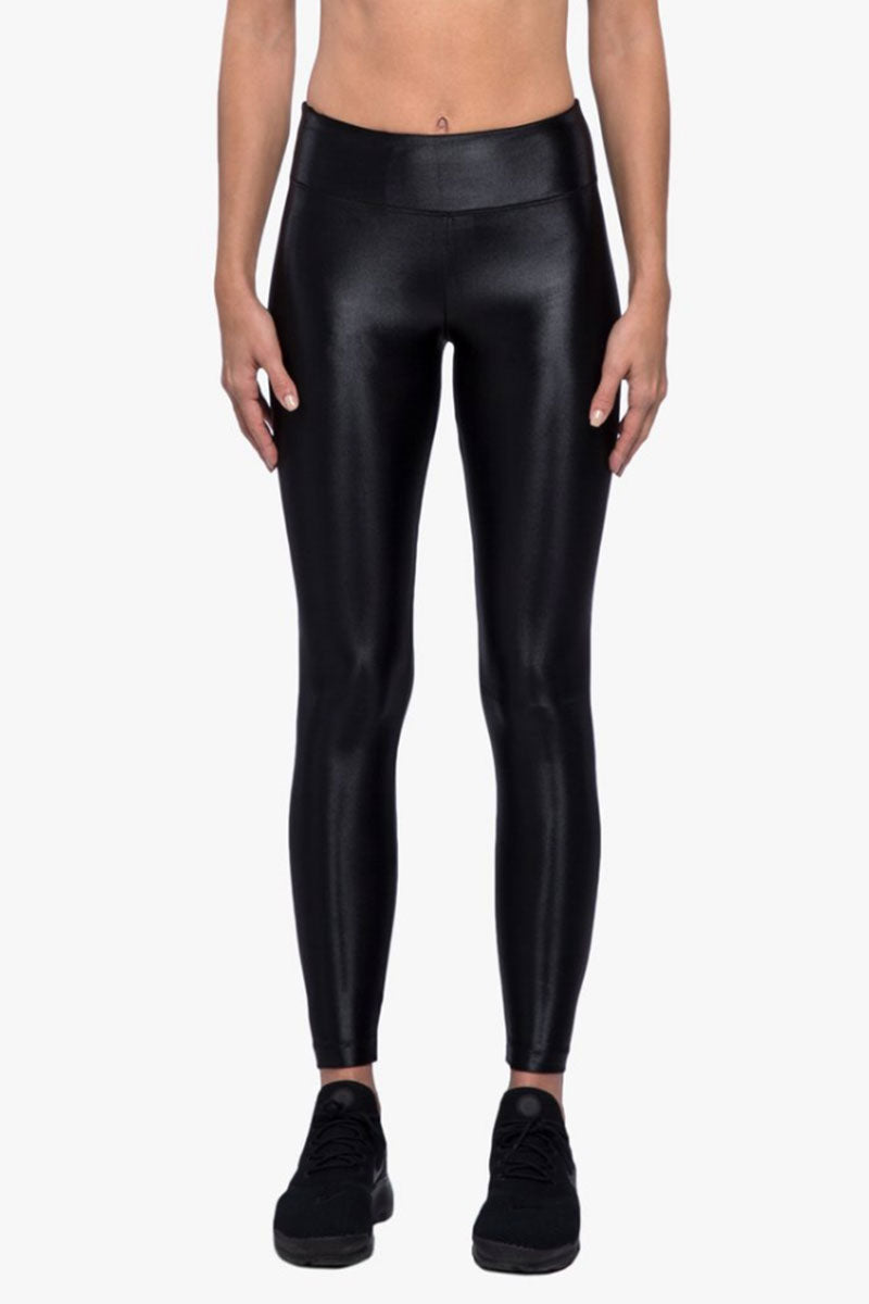 Lustrous High Rise Leggings - Black